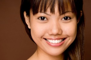 metal-free dentistry patient smiling