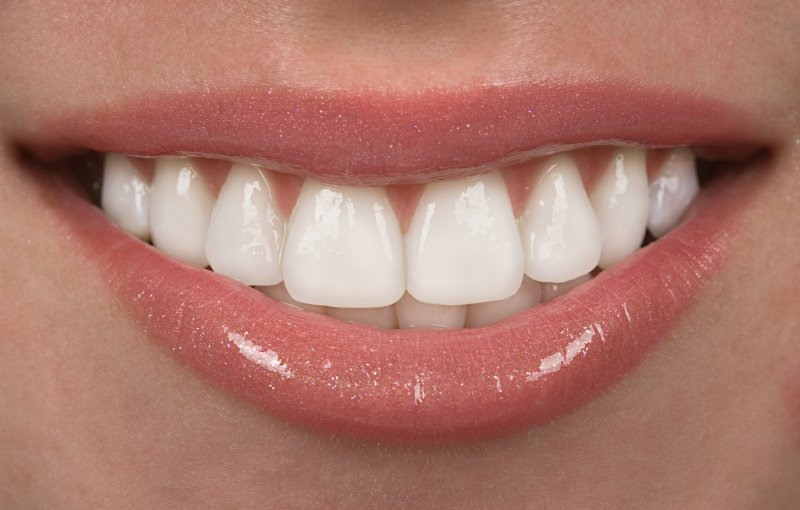 Person's smile after treatment from a cosmetic dentist in Beachwood.